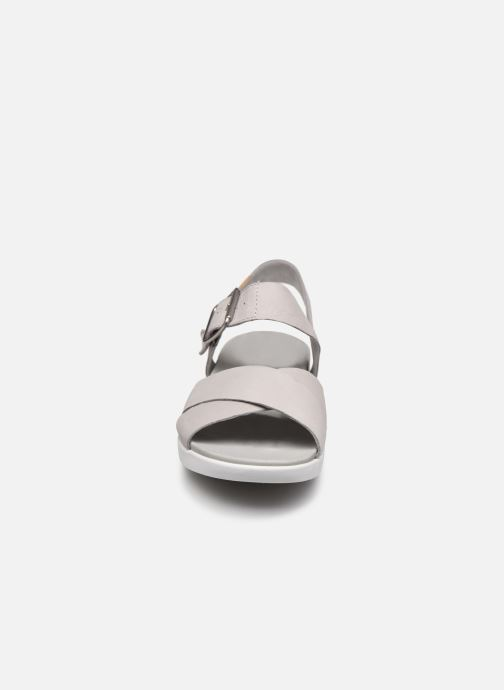 Sandali e scarpe aperte Timberland Wilesport Leather Sandal Grigio modello indossato