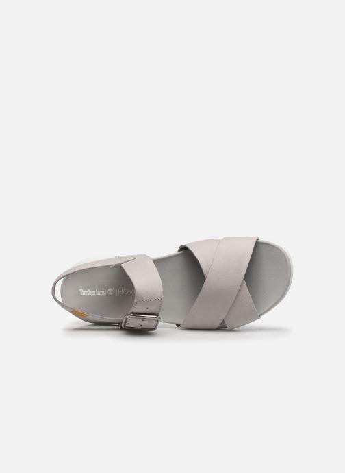 Sandalen Timberland Wilesport Leather Sandal grau ansicht von links