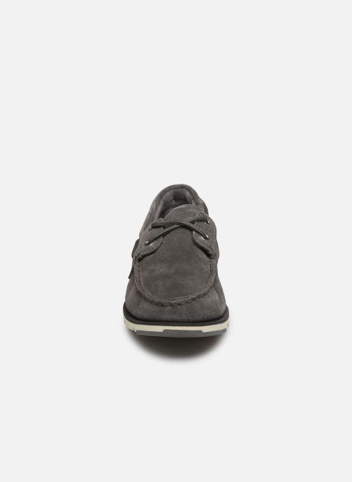 Chaussures à lacets Timberland Camden Falls Suede Boat Shoe Gris vue portées chaussures