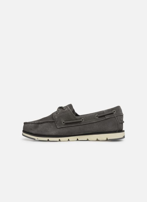 Chaussures à lacets Timberland Camden Falls Suede Boat Shoe Gris vue face