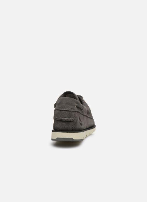 Chaussures à lacets Timberland Camden Falls Suede Boat Shoe Gris vue droite