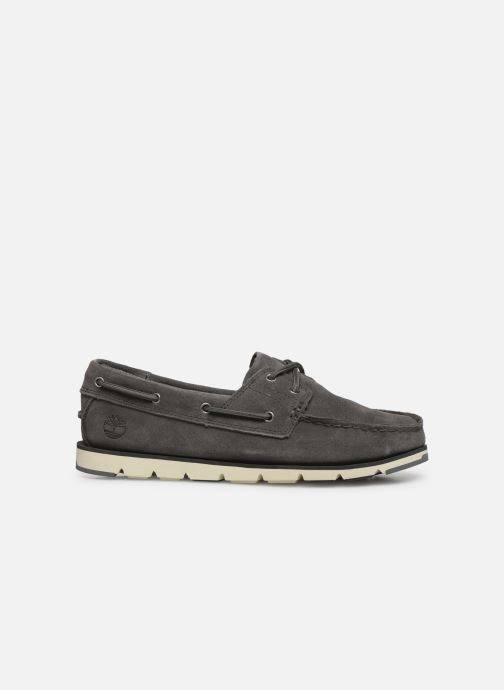 Lace-up shoes Timberland Camden Falls Suede Boat Shoe Grey back view