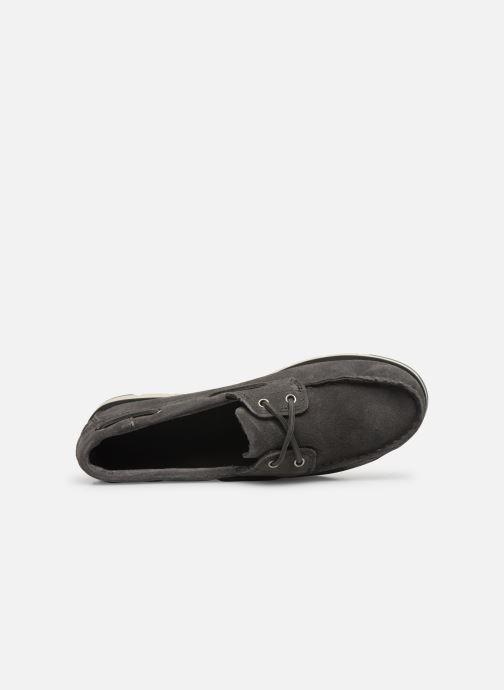 Chaussures à lacets Timberland Camden Falls Suede Boat Shoe Gris vue gauche