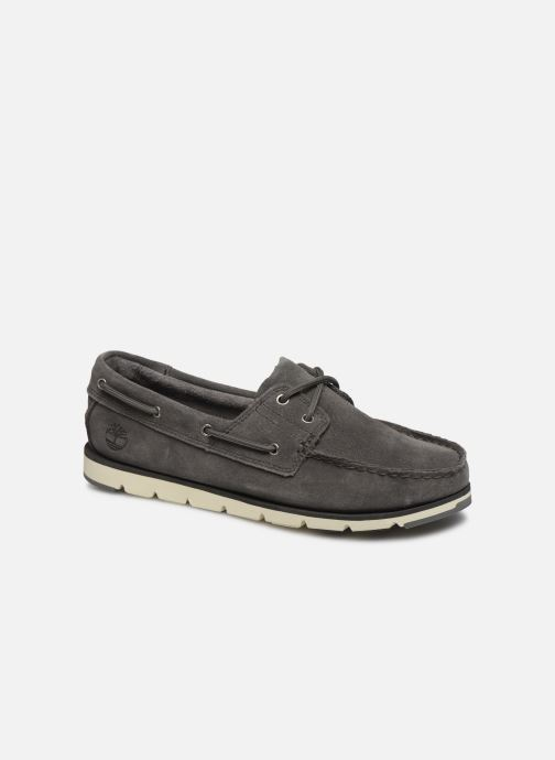 Lace-up shoes Timberland Camden Falls Suede Boat Shoe Grey detailed view/ Pair view