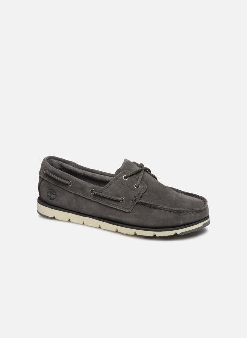 Chaussures à lacets Timberland Camden Falls Suede Boat Shoe Gris vue détail/paire