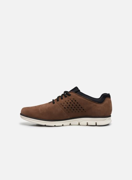 Baskets Timberland Bradstreet Perf'd PT Oxford Marron vue face