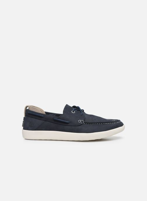 Lace-up shoes Timberland Project Better Boat Shoe Blue back view