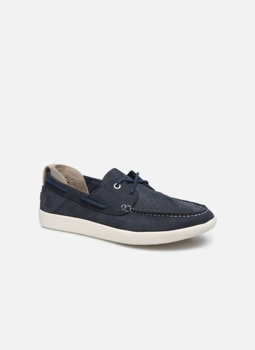 Lace-up shoes Timberland Project Better Boat Shoe Blue detailed view/ Pair view