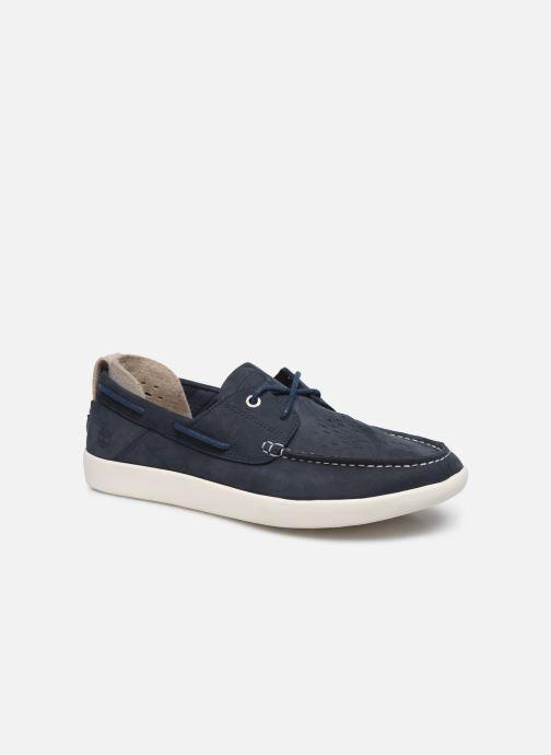 Chaussures à lacets Timberland Project Better Boat Shoe Bleu vue détail/paire