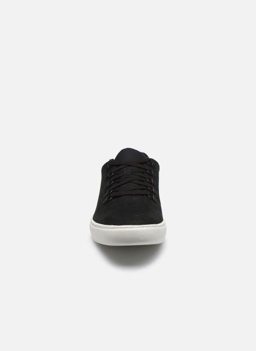 Sneakers Timberland Dauset Leather Alpine Oxford Nero modello indossato