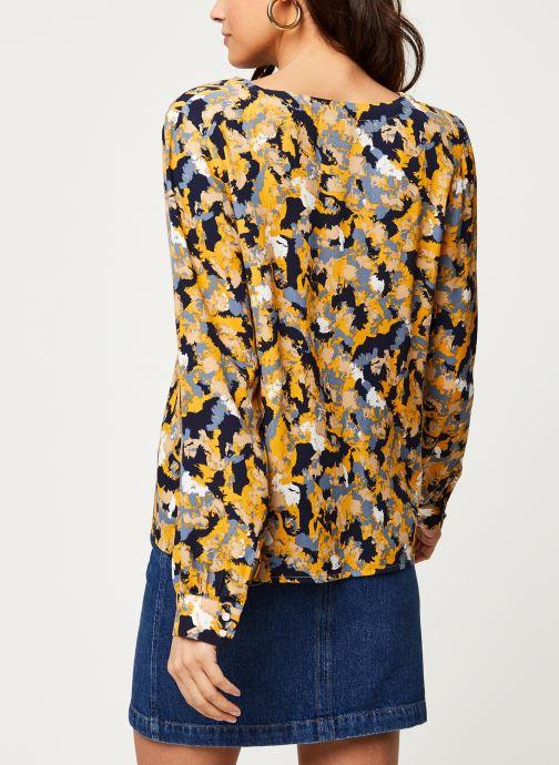 Vêtements Vila Viborine Briana Shirt Bleu vue portées chaussures