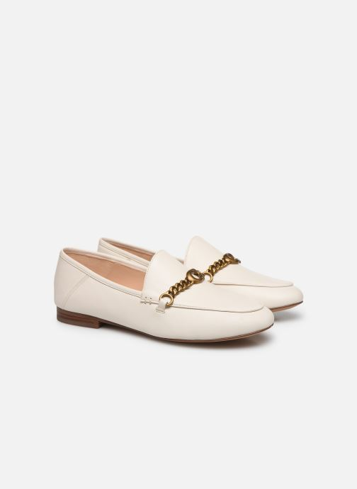 Mocasines Coach Helena C Chain Loafer- Leather Blanco vista 3/4