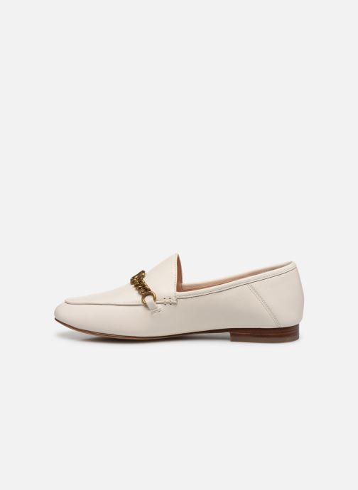 Mocasines Coach Helena C Chain Loafer- Leather Blanco vista de frente