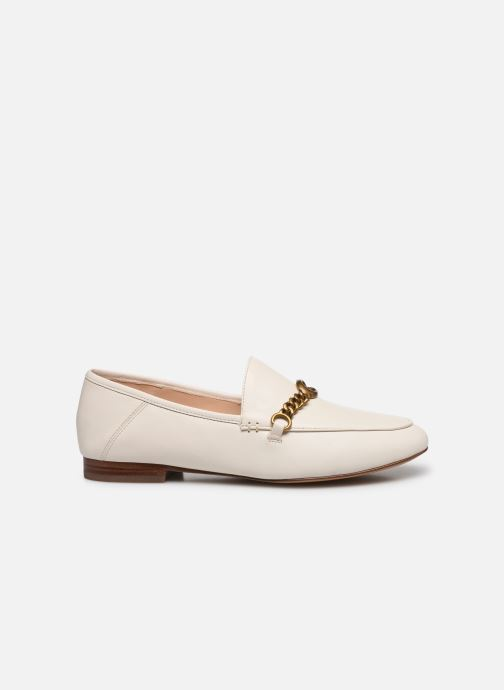 Mocasines Coach Helena C Chain Loafer- Leather Blanco vistra trasera