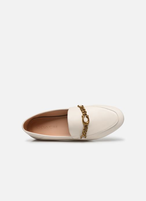 Mocasines Coach Helena C Chain Loafer- Leather Blanco vista lateral izquierda