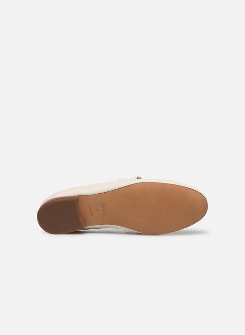 Mocasines Coach Helena C Chain Loafer- Leather Blanco vista de arriba