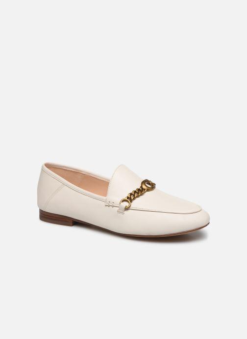 Mocassins Coach Helena C Chain Loafer- Leather Blanc vue détail/paire