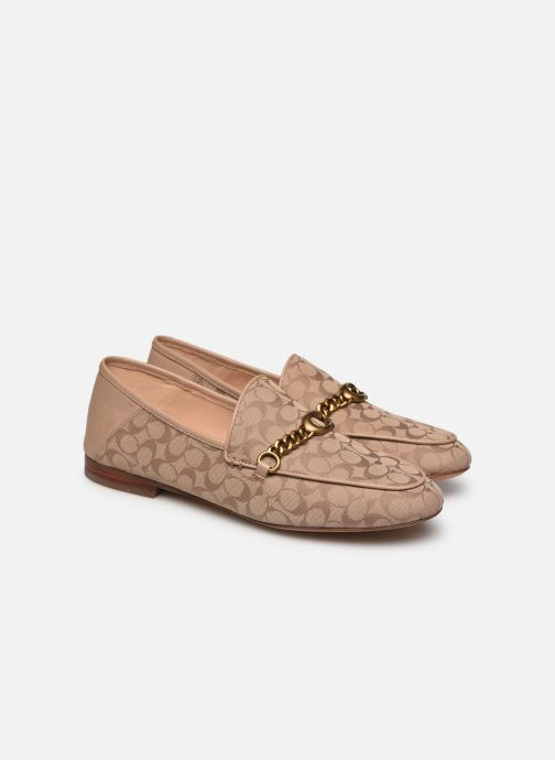 Mocassini Coach Helena C Chain Loafer- Signature Jacquard Beige immagine 3/4