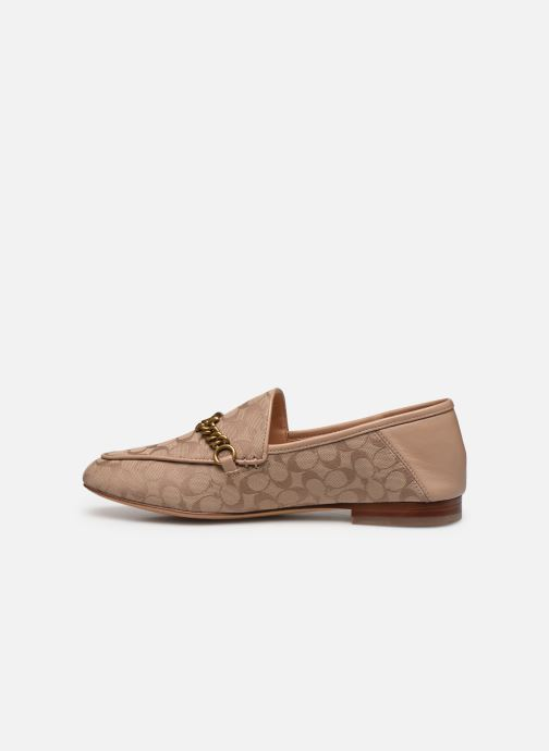 Mocassins Coach Helena C Chain Loafer- Signature Jacquard Beige vue face