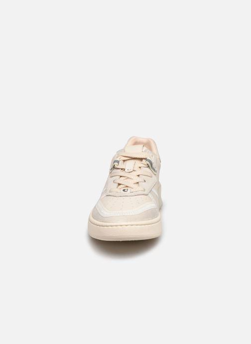 Baskets Coach Adb Suede-Leather Court Sneaker Blanc vue portées chaussures