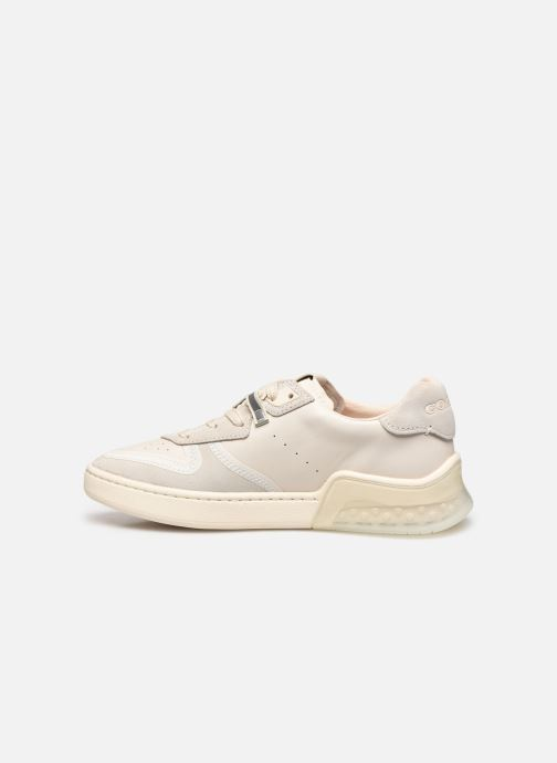 Baskets Coach Adb Suede-Leather Court Sneaker Blanc vue face