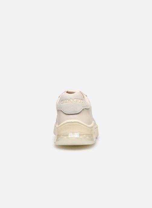 Deportivas Coach Adb Suede-Leather Court Sneaker Blanco vista lateral derecha