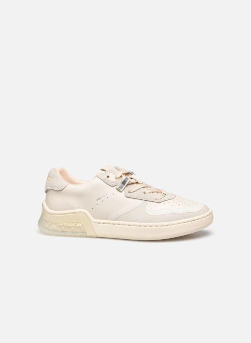 Baskets Coach Adb Suede-Leather Court Sneaker Blanc vue derrière