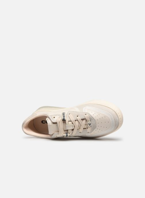 Baskets Coach Adb Suede-Leather Court Sneaker Blanc vue gauche