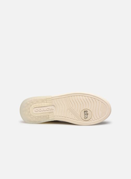 Baskets Coach Adb Suede-Leather Court Sneaker Blanc vue haut