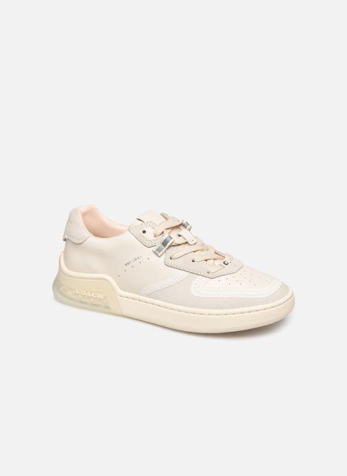 Baskets Coach Adb Suede-Leather Court Sneaker Blanc vue détail/paire