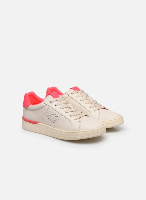 Baskets Coach Adb Leather Low Top Blanc vue 3/4