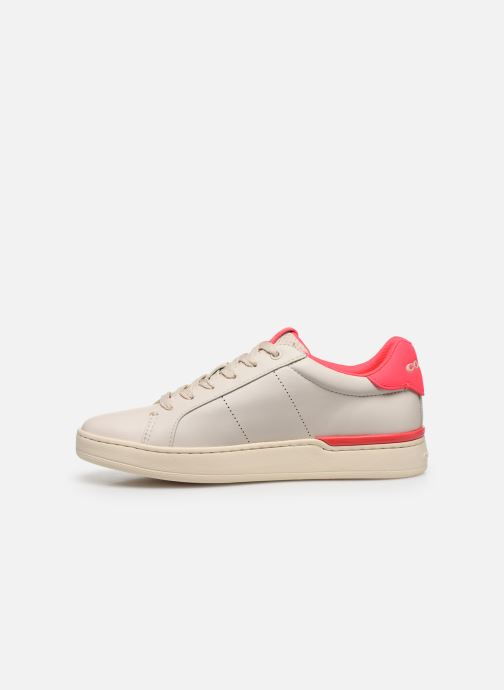 Baskets Coach Adb Leather Low Top Blanc vue face