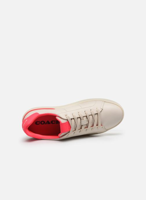 Baskets Coach Adb Leather Low Top Blanc vue gauche