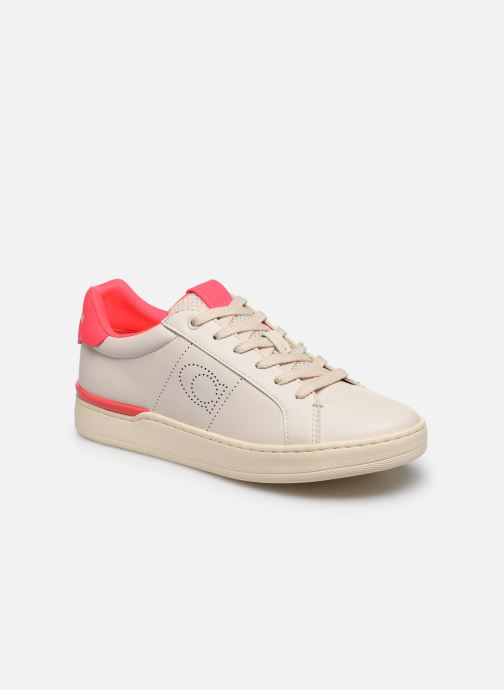Baskets Coach Adb Leather Low Top Blanc vue détail/paire