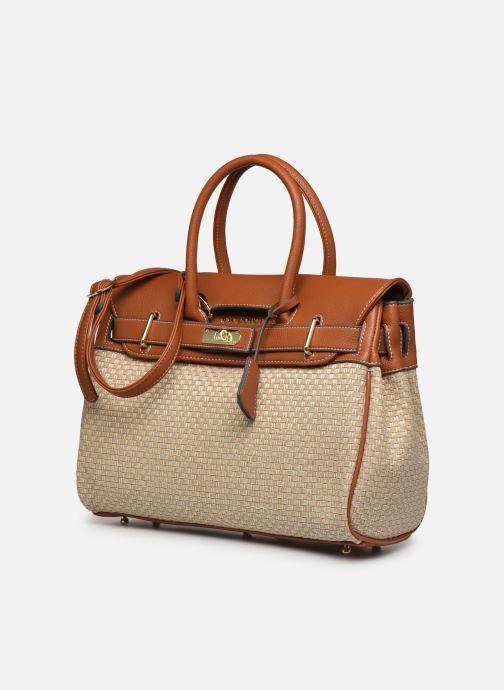 Bolsos de mano Mac Douglas Fantasia Pyla XS Beige vista del modelo