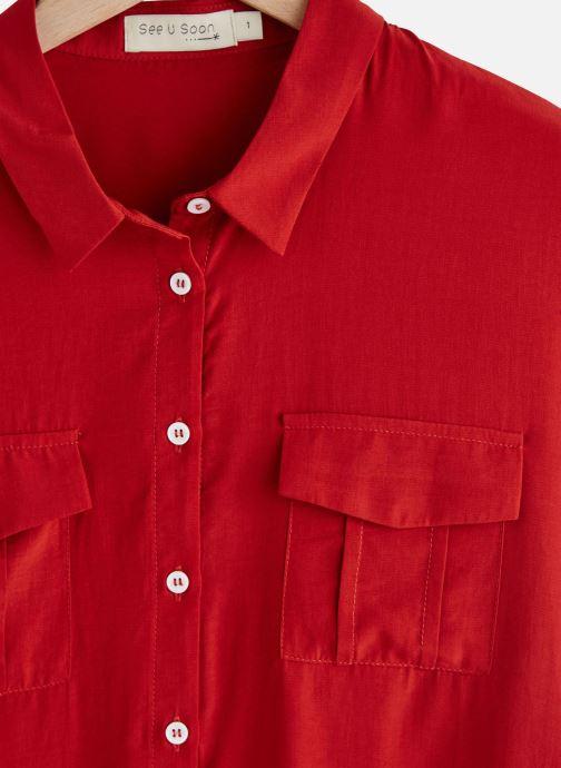 Vêtements See u soon 20111917 Rouge vue portées chaussures