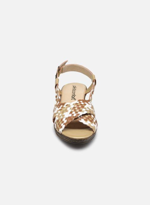 Sandali e scarpe aperte Pédiconfort Chloé - Sandales tressées main grande largeur Marrone modello indossato