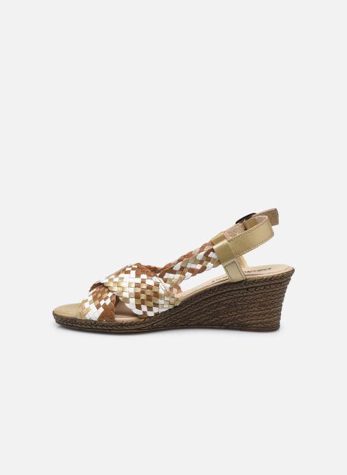 Sandali e scarpe aperte Pédiconfort Chloé - Sandales tressées main grande largeur Marrone immagine frontale