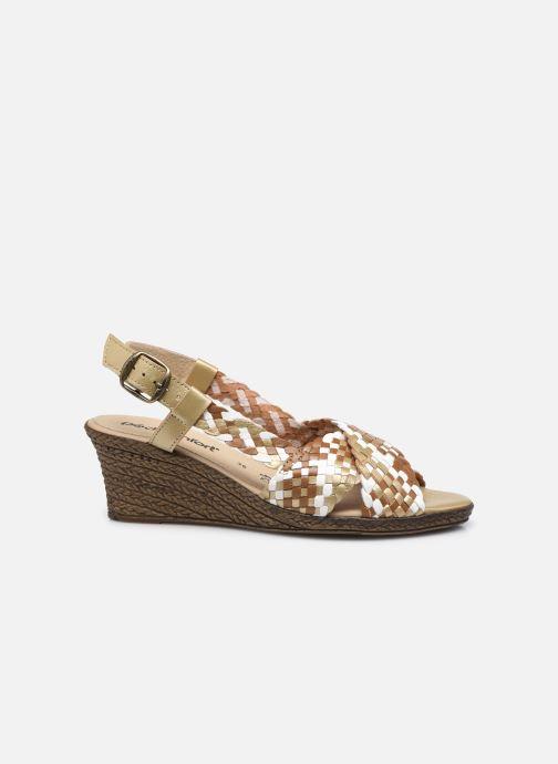 Sandali e scarpe aperte Pédiconfort Chloé - Sandales tressées main grande largeur Marrone immagine posteriore
