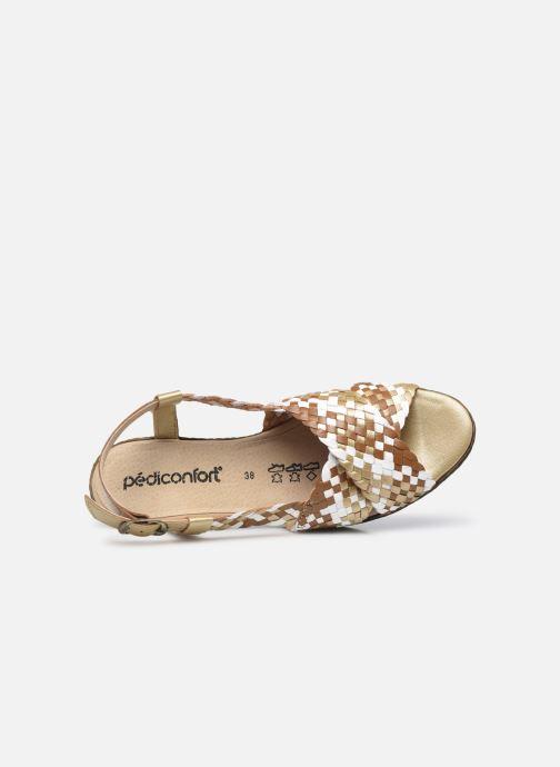 Sandali e scarpe aperte Pédiconfort Chloé - Sandales tressées main grande largeur Marrone immagine sinistra