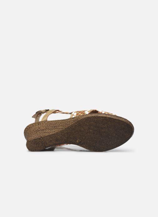 Sandali e scarpe aperte Pédiconfort Chloé - Sandales tressées main grande largeur Marrone immagine dall'alto