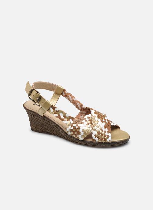 Sandali e scarpe aperte Pédiconfort Chloé - Sandales tressées main grande largeur Marrone vedi dettaglio/paio