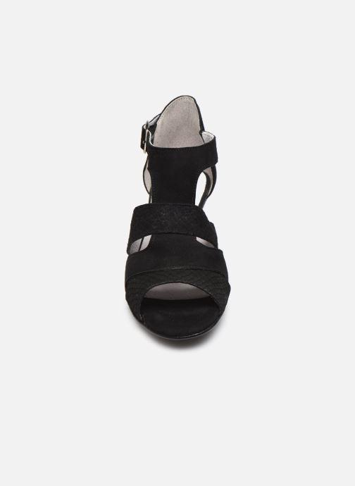 Sandali e scarpe aperte Pédiconfort Lucie - Sandales cuir bimatière grande largeur Nero modello indossato