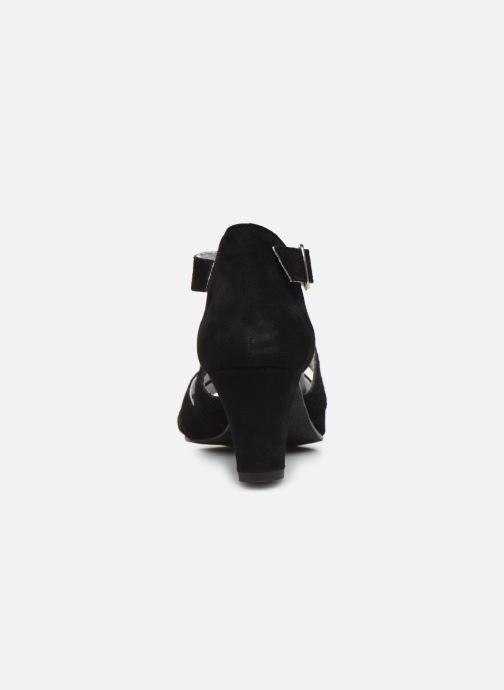 Sandali e scarpe aperte Pédiconfort Lucie - Sandales cuir bimatière grande largeur Nero immagine destra