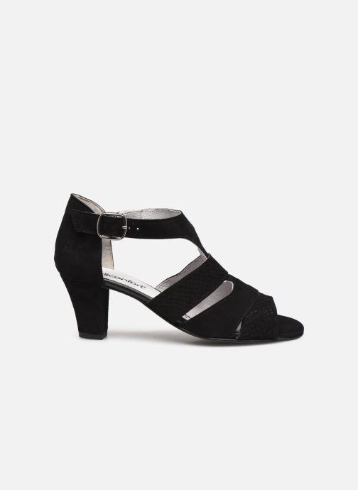 Sandali e scarpe aperte Pédiconfort Lucie - Sandales cuir bimatière grande largeur Nero immagine posteriore