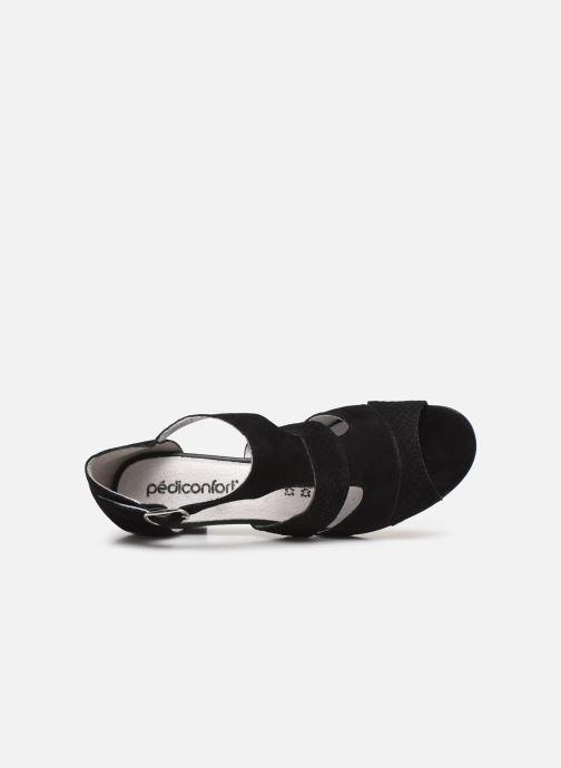 Sandali e scarpe aperte Pédiconfort Lucie - Sandales cuir bimatière grande largeur Nero immagine sinistra