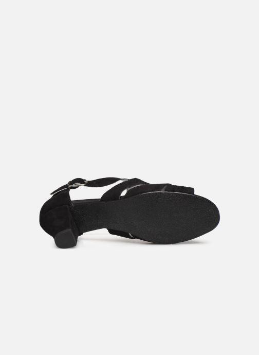 Sandali e scarpe aperte Pédiconfort Lucie - Sandales cuir bimatière grande largeur Nero immagine dall'alto