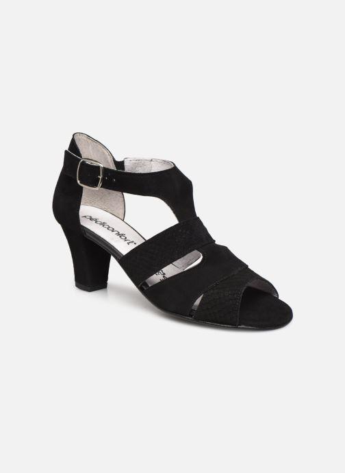 Sandali e scarpe aperte Pédiconfort Lucie - Sandales cuir bimatière grande largeur Nero vedi dettaglio/paio