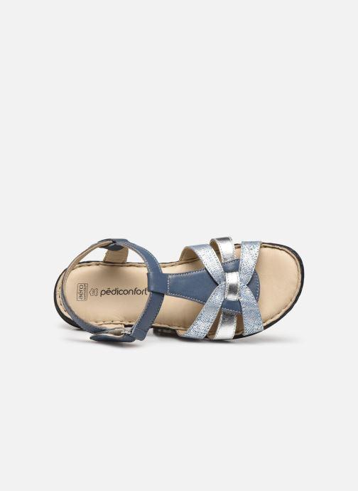 Sandalias Pédiconfort Timéo - Sandales d'été cuir ultra légères Azul vista lateral izquierda