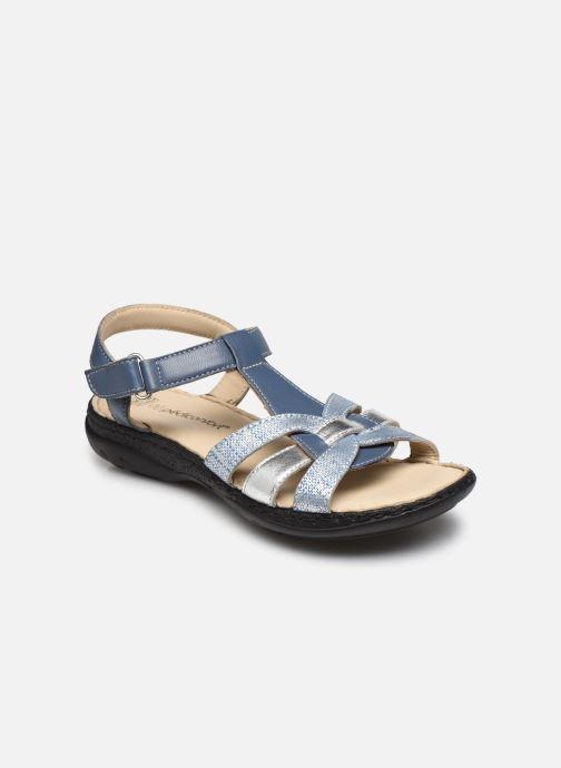 Sandalias Pédiconfort Timéo - Sandales d'été cuir ultra légères Azul vista de detalle / par